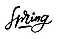 De inspiratiecitaten van de de lentelevensstijl het van letters voorzien Het met de hand geschreven element van het kalligrafie g Stock Fotografie