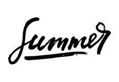 De inspiratiecitaten van de de zomerlevensstijl het van letters voorzien Het met de hand geschreven element van het kalligrafie g Stock Afbeelding