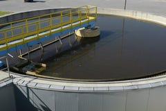 De Installatie van de Behandeling van het Water van het afval Stock Fotografie