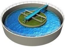 De Installatie van de Behandeling van het Water van het afval Royalty-vrije Stock Afbeelding