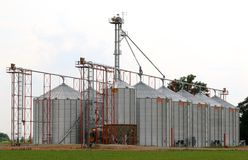 De Installatie van de graanverwerking Stock Afbeelding