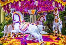 De installatie van de het hotelbloem van Las Vegas Wynn Stock Foto's