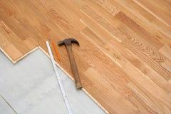 De installatie van de vloer Stock Foto