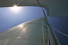 De Installatie van de zeilboot van onderaan Royalty-vrije Stock Foto's