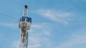 De installatie van de olieboring stock videobeelden