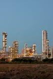 De installatiegebied van de raffinaderij Royalty-vrije Stock Foto