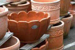 De installatiepotten van het terracotta Stock Fotografie