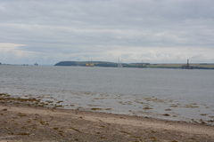 De installaties van de olieexploratie in Cromarty-Firth Stock Fotografie