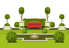 De installaties van de parktuin stock illustratie