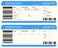 De instapkaartkaartjes van de luchtvaartlijn stock illustratie