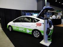 De Insteekauto Prius van de Amerikaanse club van automobilisten stock foto