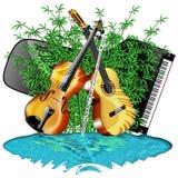 De Instrumenten en de Aard van de muziek Stock Fotografie