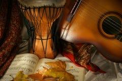 De instrumenten van de muziek Stock Foto