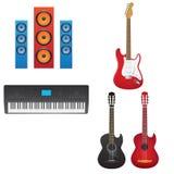 De instrumenten van de muziek Stock Afbeelding