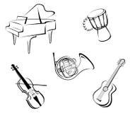 De instrumenten van de muziek Royalty-vrije Stock Foto's