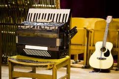 De instrumenten van de muziek Stock Foto's