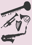 De instrumenten van de muziek stock illustratie