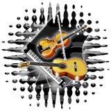 De Instrumenten van de muziek Stock Fotografie