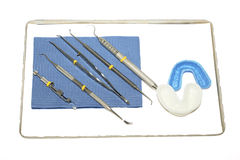 De instrumenten van de tandarts Stock Foto