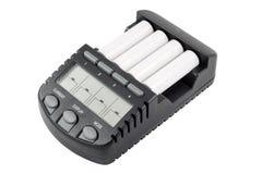 De intelligente lader van de accumulatorbatterij met aa Stock Afbeeldingen