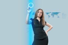 De interface van de aanraking - Toekomst Royalty-vrije Stock Afbeelding
