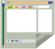 De interface van de website Royalty-vrije Stock Afbeeldingen