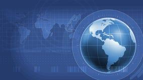 De Interface van wereldinfographics Stock Afbeeldingen