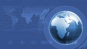 De Interface van wereldinfographics Stock Foto