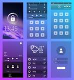 De interfaceschermen van smartphone royalty-vrije illustratie
