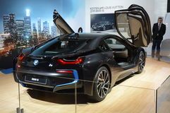 De Internationale Automobiele Salon van BMW i8 Moskou Royalty-vrije Stock Afbeelding