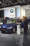 De Internationale Automobiele Salon van BMW 316i Moskou Stock Fotografie
