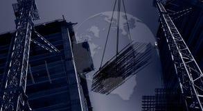 De internationale bouw van de banner stock fotografie