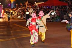 De internationale Chinese Parade van de Nacht van het Nieuwjaar Stock Afbeeldingen