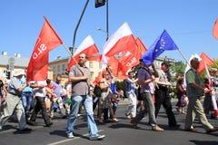 De internationale Dag van Arbeiders Stock Foto's