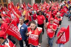 De internationale Demonstraties van de Dag van de Arbeid Stock Afbeelding