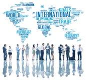 De internationale Globalisering Internationaal C van het Wereld Globale Netwerk stock fotografie