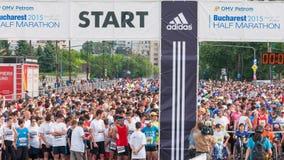 De Internationale Halve Marathon 2015 van Boekarest Royalty-vrije Stock Afbeeldingen