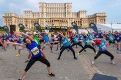 De Internationale Halve Marathon 2015 van Boekarest Stock Foto