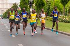 De Internationale Halve Marathon 2015 van Boekarest Stock Afbeelding