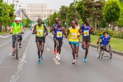 De Internationale Halve Marathon 2015 van Boekarest Stock Fotografie