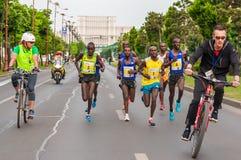 De Internationale Halve Marathon 2015 van Boekarest Stock Afbeeldingen