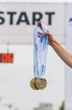 De Internationale Halve Marathon 2015 van Boekarest Stock Foto's