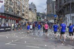 De Internationale Halve Marathon van Boekarest Stock Foto