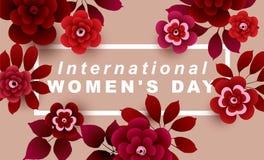 De internationale kaart van de Vrouwen` s Dag Royalty-vrije Stock Afbeeldingen