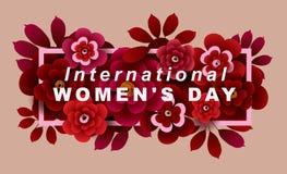 De internationale kaart van de Vrouwen` s Dag Stock Foto
