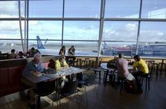 De Internationale Luchthaven van Auckland Stock Afbeelding