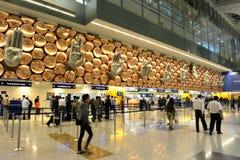 De Internationale Luchthaven van Gandhi van Indira Stock Afbeeldingen
