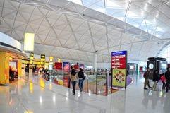De internationale luchthaven van Hongkong Royalty-vrije Stock Foto's