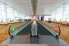De internationale luchthaven van New Delhi, India Stock Foto's