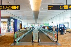 De internationale luchthaven van New Delhi, India stock afbeeldingen